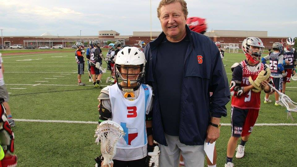 Coach Desko at Texas Draw Clinic with Player
